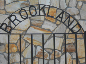 Brookland metal sign